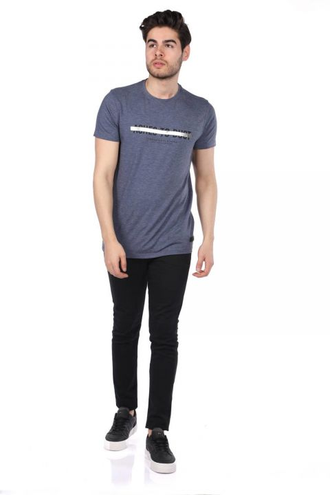 Govani Lacivert Erkek Bisiklet Yaka T-Shirt