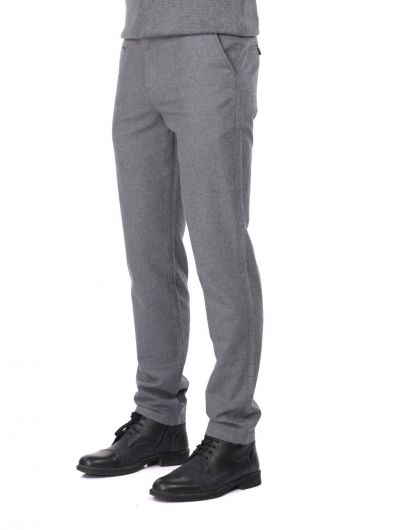 MARKAPIA MAN - Erkek Gri Comfort Chino Pantolon (1)