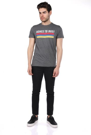 Erkek Jakob Renkli Baskılı Bisiklet Yaka T-Shirt - Thumbnail