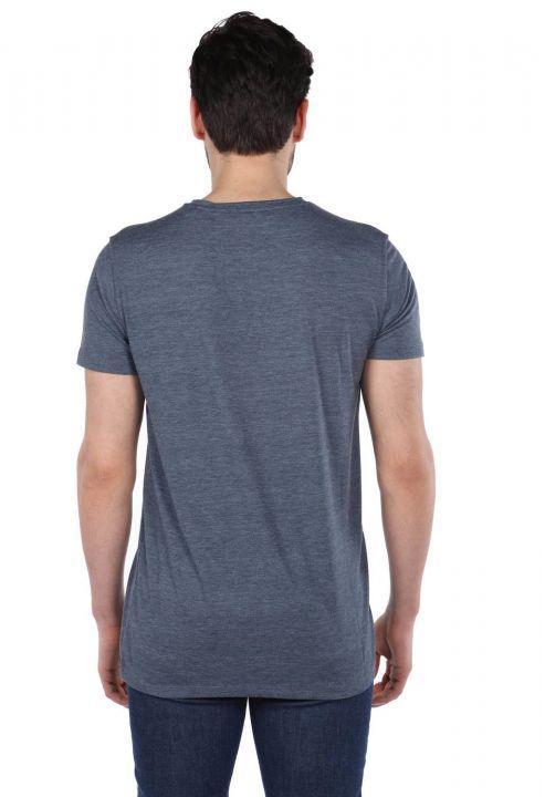 Erkek Jakob Renkli Baskılı Bisiklet Yaka T-Shirt
