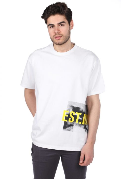 Oversize Bisiklet Yaka Erkek T-Shirt