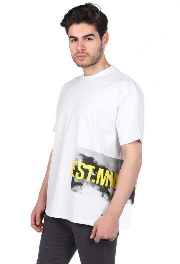 MARKAPIA - Oversıze Bisiklet Yaka Erkek T-Shirt (1)