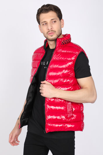 MARKAPIA - Erkek Kırmızı Parlak Jel Şişme Yelek (1)