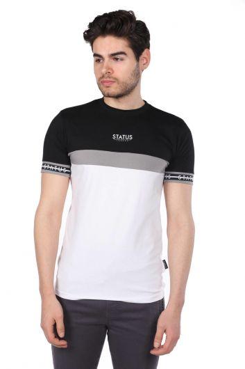 Erkek Status Baskılı T-Shirt - Thumbnail