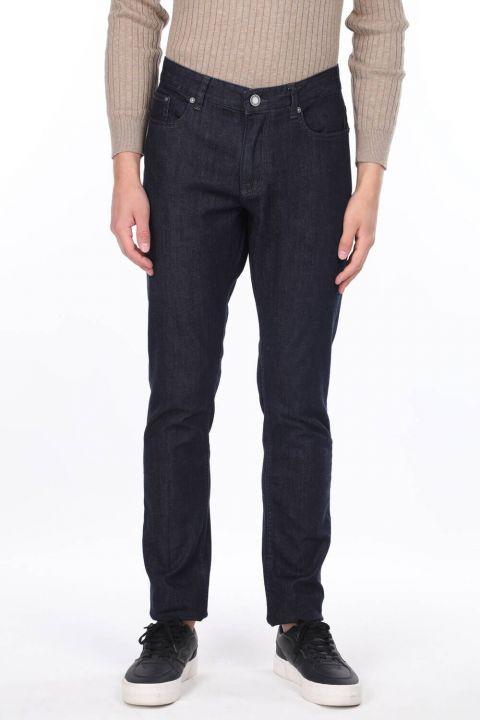 Erkek Koyu Regular Fit Jean Pantolon