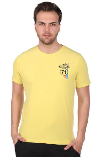 MARKAPIA MAN - Erkek Küçük Vosvos Baskılı Bisiklet Yaka T-Shirt (1)