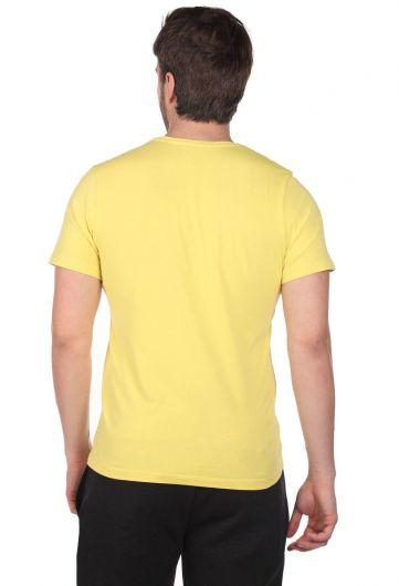 Erkek Küçük Vosvos Baskılı Bisiklet Yaka T-Shirt - Thumbnail