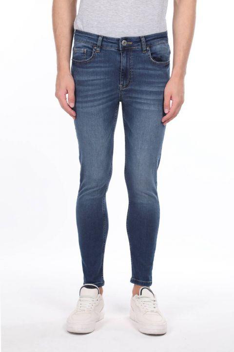 Erkek Lacivert Skinny FitJean Pantolon