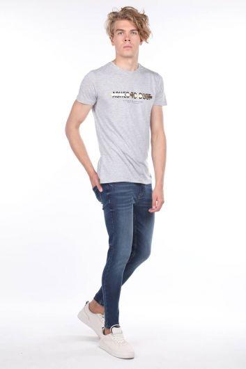 Erkek Lacivert Skinny FitJean Pantolon - Thumbnail