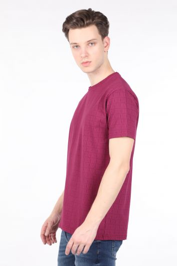 IL SARTO - Men's Plum Printed Crew Neck T-shirt (1)