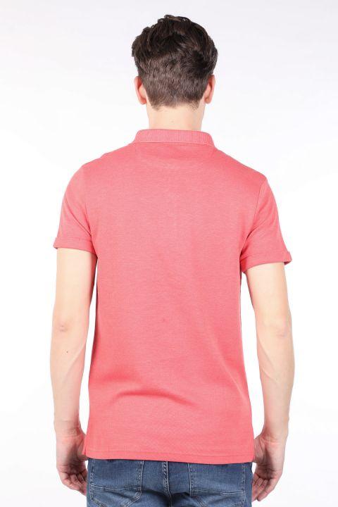 Erkek Nar Çiçeği Polo Yaka T-shirt