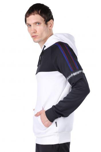 STATUS - Erkek Parçalı Kapüşonlu Sweatshirt (1)