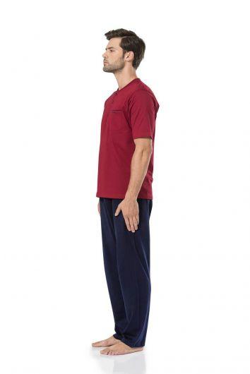 Pierre Cardin Erkek Penye Pijama - Thumbnail
