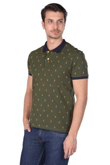 MARKAPIA - Erkek Desenli Polo Yaka T-Shirt (1)