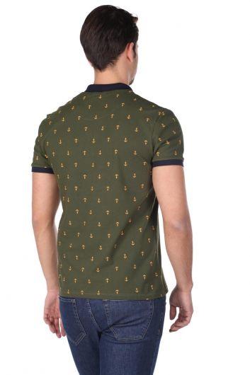 Erkek Desenli Polo Yaka T-Shirt - Thumbnail