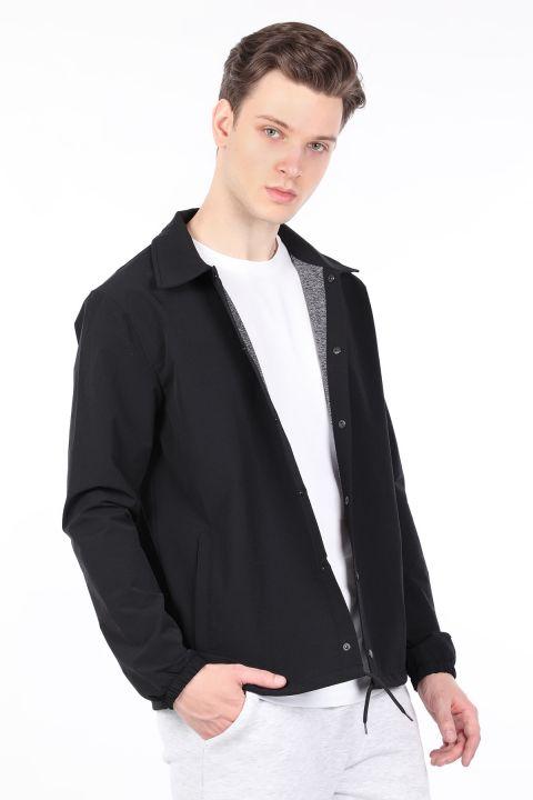 Erkek Siyah Paraşüt Ceket