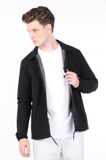 MARKAPIA MAN - Erkek Siyah Paraşüt Ceket (1)
