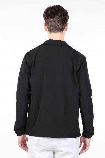 Erkek Siyah Paraşüt Ceket - Thumbnail