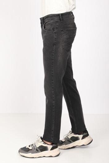 BLUE WHITE - Erkek Siyah Rahat Düz Kesim Jean Pantolon (1)