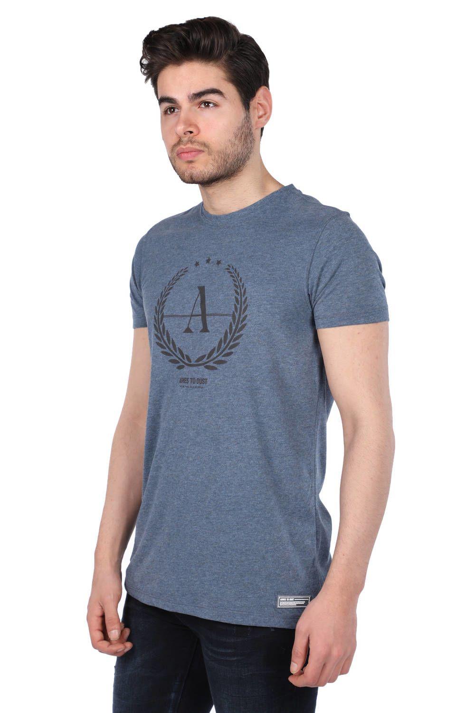 Erkek Regular Fıt Bisiklet Yaka T-Shirt