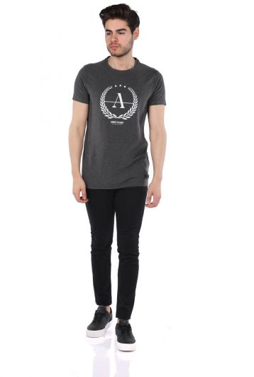Erkek Regular Fıt Bisiklet Yaka T-Shirt - Thumbnail