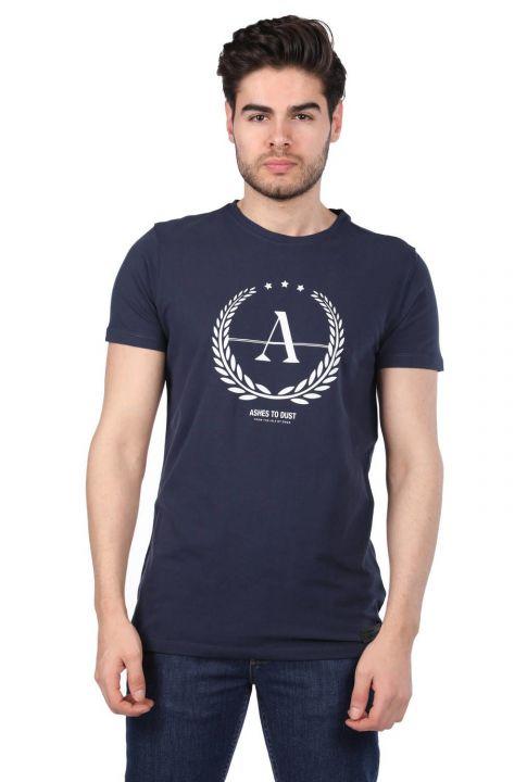 Ashes To Dust Baskılı Erkek Bisiklet Yaka T-Shirt