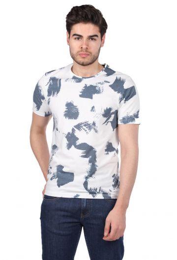 PHAZZ - Benekli Erkek Bisiklet Yaka T-Shirt (1)