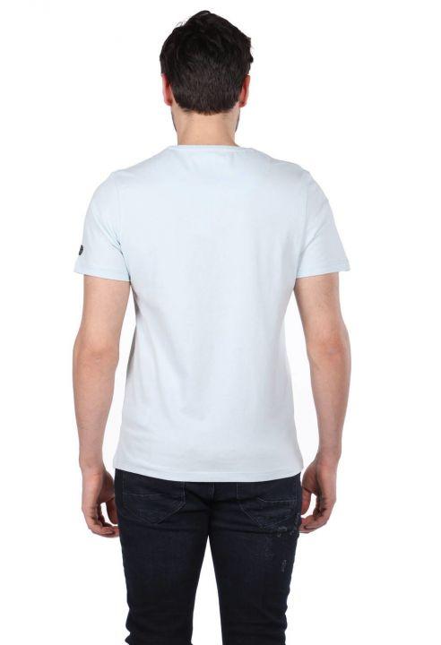 Scooter Baskılı Erkek Bisiklet Yaka T-Shirt
