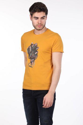 Mikrofon Baskılı Erkek T-Shirt - Thumbnail
