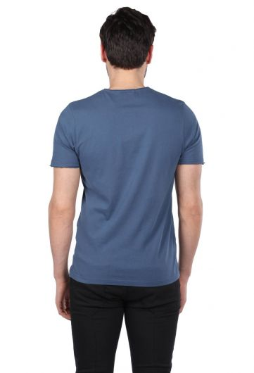 Mikrofon Baskılı Erkek Bisiklet Yaka T-Shirt - Thumbnail
