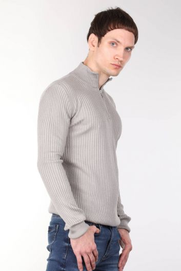 MARKAPIA MAN - Zipper Corded Men's Knitwear Sweater (1)