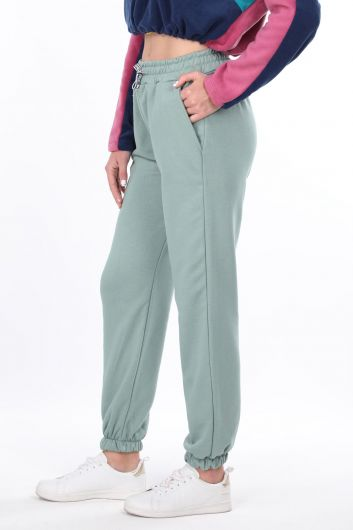 MARKAPIA WOMAN - Flat Elastic Green Women's Sweatpants (1)