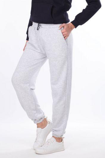 MARKAPIA WOMAN - Серые женские спортивные штаны на плоской резинке (1)
