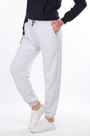 MARKAPIA WOMAN - Flat Elastic Gray Women's Sweatpants (1)