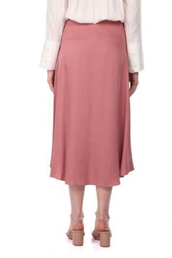 تنورة ميدي مستقيمة وردية من ماركابيا - Thumbnail
