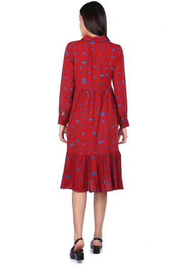 MARKAPİA WOMAN - Floral Pattern Gathered Dress (1)