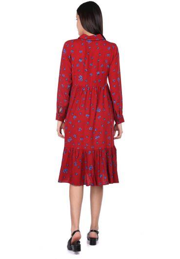 MARKAPİA WOMAN - Платье со сборками с цветочным узором (1)