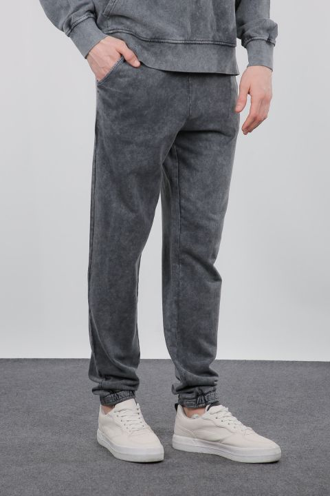 Smoked Wide-Fit Men's Trousers