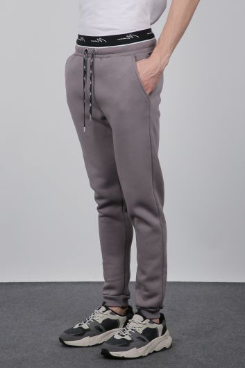 MARKAPIA - Smoked Sweatpants, Elastic Waistband, Men's Sweatpants (1)
