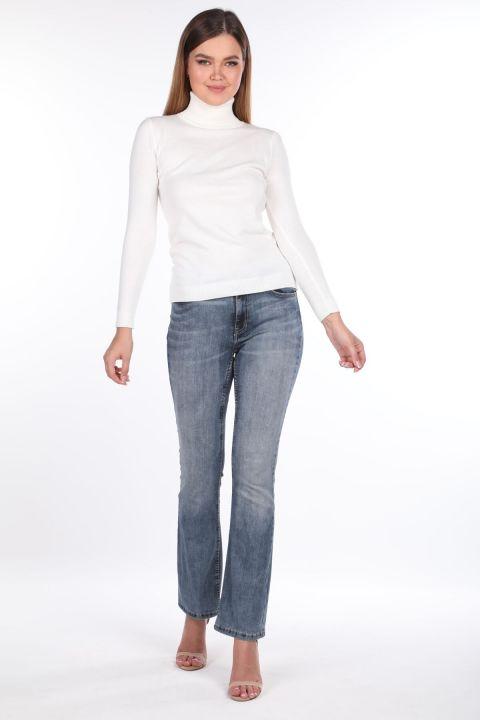 Geniş Paça Kadın Jean Pantolon