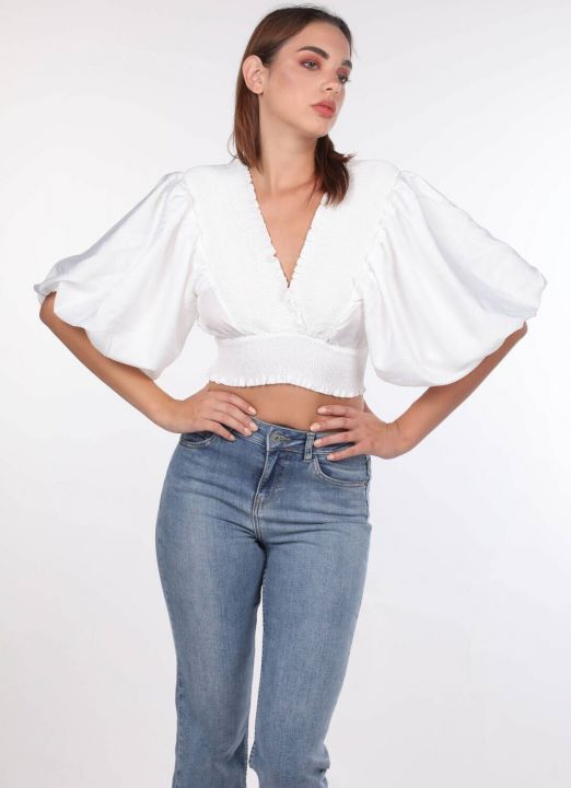 Gipeli Balloon Sleeve Blouse