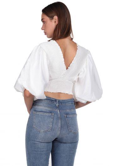 Блуза Gipeli с воздушными рукавами - Thumbnail