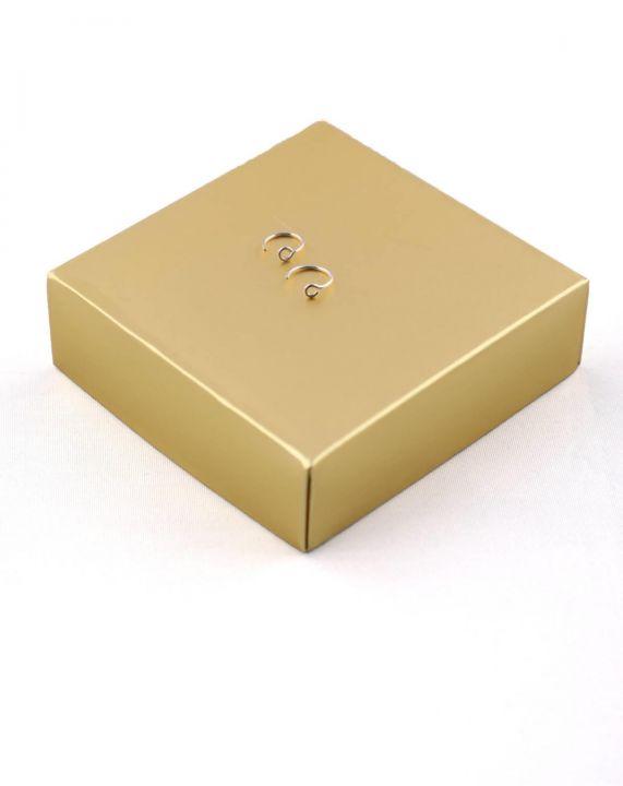 Goo Design Minimal 925Ayar Gümüş Sıkıştırmalı Küpe-Hızma