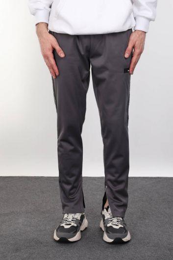 Серые мужские спортивные брюки Raised Runner - Thumbnail