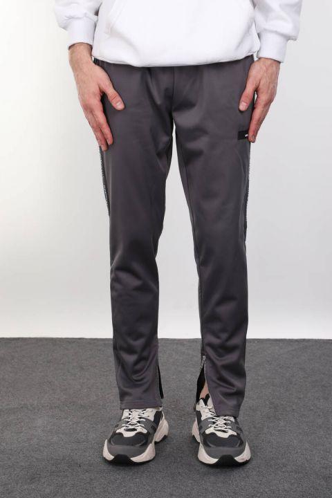 Gray Raised Runner Men's Sweatpants