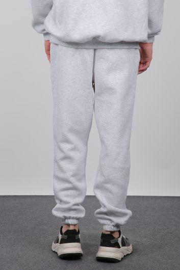Серые спортивные штаны Мужские спортивные штаны - Thumbnail