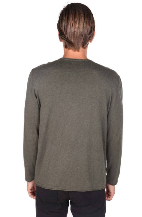 Green Men's Crew Neck Sweater