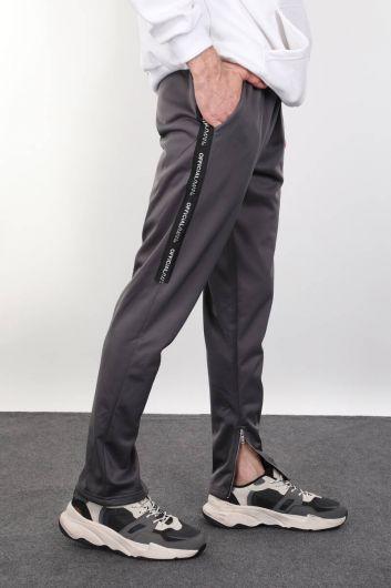 MARKAPIA - بدلة رياضية رمادية اللون للرجال (1)