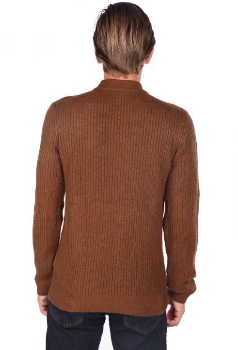 Men's Brown Turtleneck Sweater
