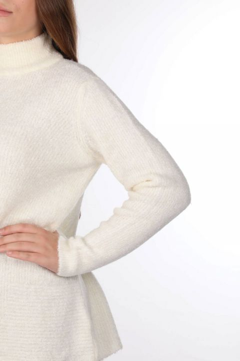 Turtleneck Ecru Sweater